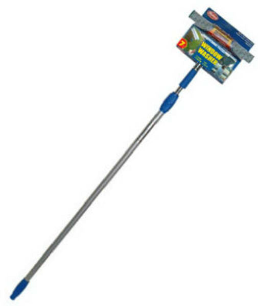 "Mallory® 4-10NY-E Window Squeegee with 10"" Head & 7' Aluminum Telescopic Handle"