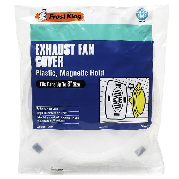 Frost King® EC108 Plastic Exhaust Fan Cover, 8""