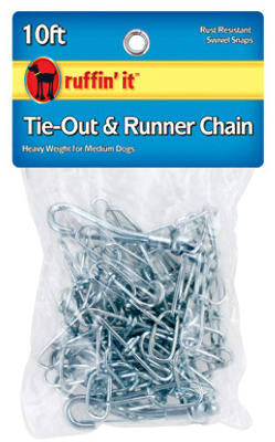 Ruffin' It 28100 Tie-Out & Runner Chain, 10' x 2.5MM