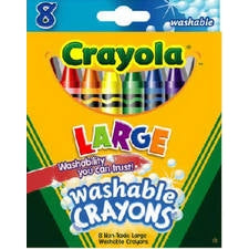 Crayola 52-3280 Large Washable Kid's First Crayons, 8-Count