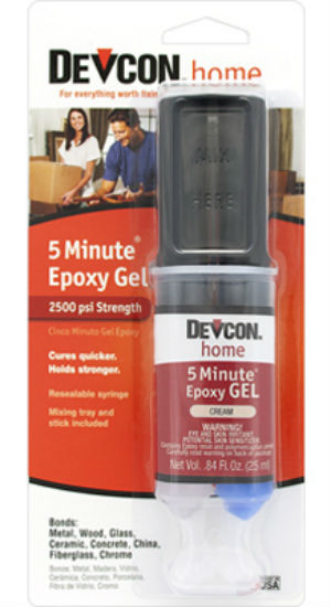 Devcon 21045 5-Minute Epoxy Gel, Cream, 25 ml