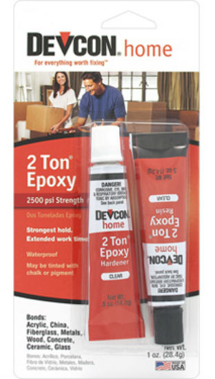 Devcon® 35345 2-Ton® Clear Epoxy Tubes, 1 Oz