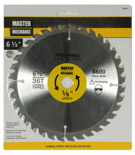 "Master Mechanic 440859 Circular Saw Blade, 6-1/2"", 36 Teeth"