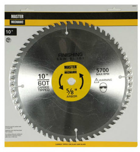 "Master Mechanic 440933 Precision Cutoff Circular Saw Blade, 10"", 60 Teeth"