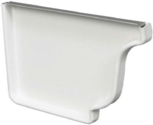 "Amerimax 27005 Aluminum Left End Cap, 5"", White"