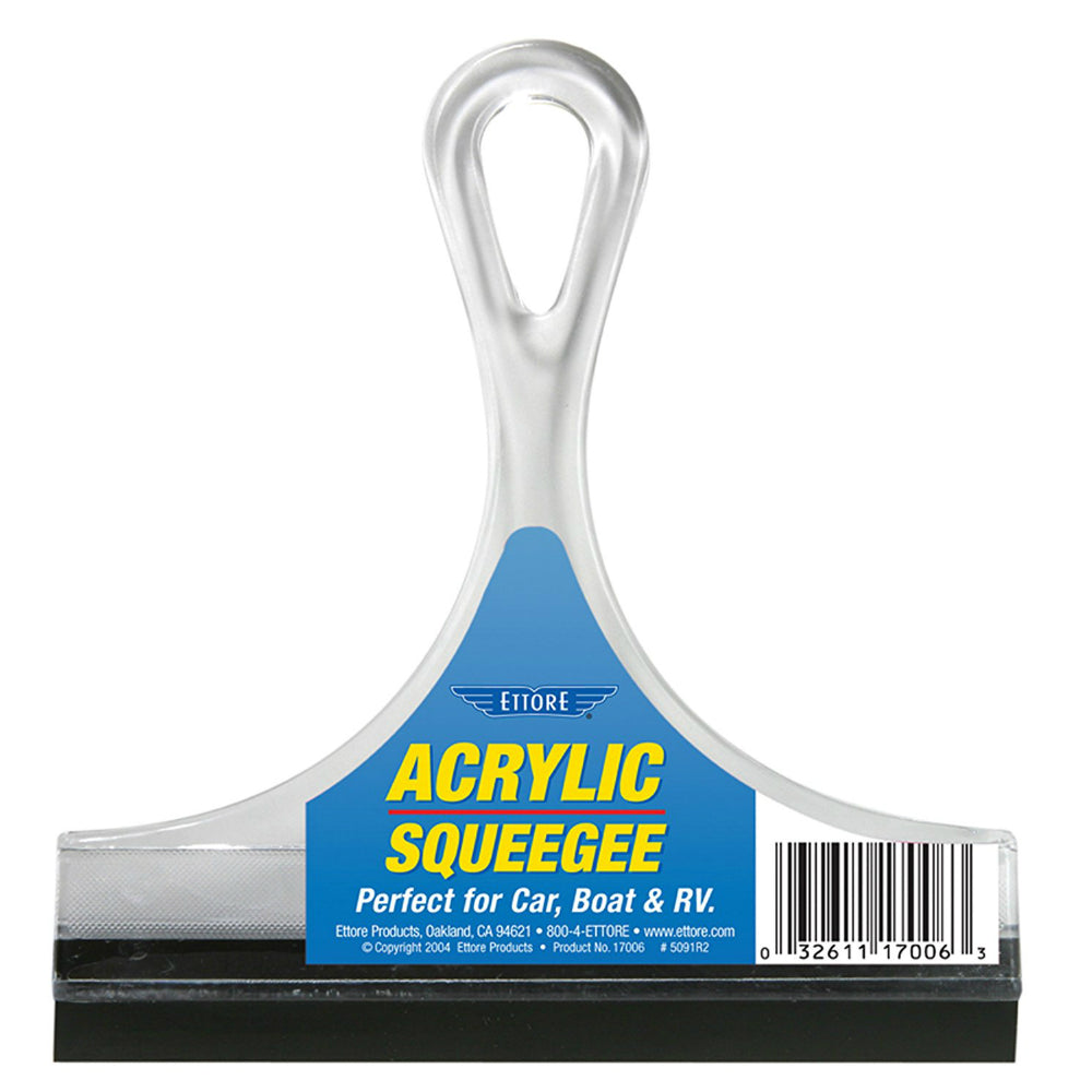 Ettore® 17006 Acrylic All Purpose Squeegee w/ Rubber Blade, 6""