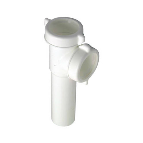 Master Plumber 453-399 Plastic Kitchen Drain End Outlet Tee, White