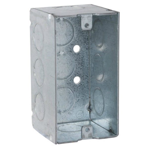 "RACO® 8670 Steel Handy Box, Welded with Conduit KO's, 4"" x 2-1/8"" Deep"