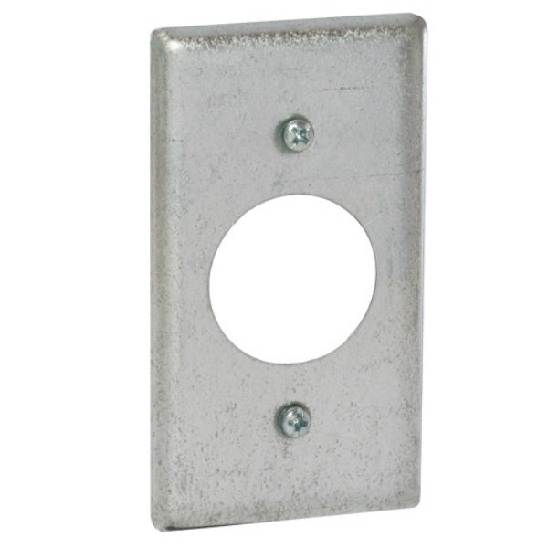 "RACO® 863 Single Receptacle Steel Handy Box Cover, 2-5/16"" x 4-3/16"""
