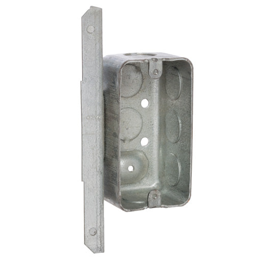 "RACO® 661 Raised Ground A Bracket Handy Box, Drawn w/Conduit KO's, 4"" x 1-7/8"""