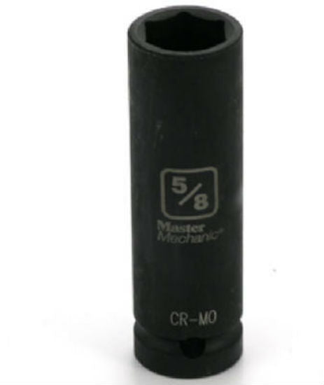 "Master Mechanic 454986 6-Point Deep Well Impact Socket, 1/2"" Drive, 5/8"""