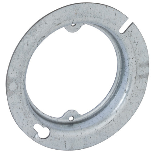 RACO® 737 Open Round Fixture Box Cover, Steel, 4""