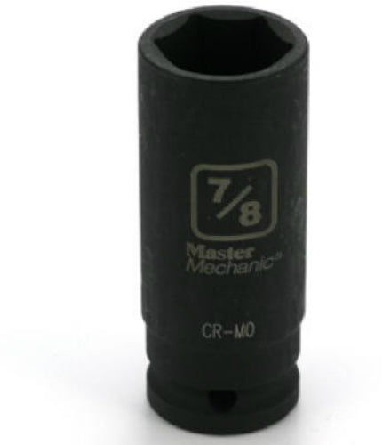 "Master Mechanic 455066 6-Point Deep Well Impact Socket, 1/2"" Drive, 7/8"""