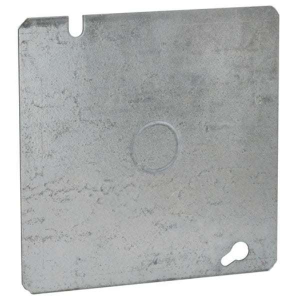 RACO® 833 Square Steel Box Cover, 4-11/16""