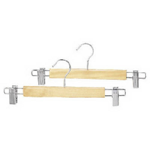 Whitmor 6026-311 Natural Wood Skirt Hanger, 2-Pack