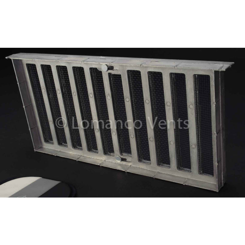 "Lomanco® 179 Heavy Die-Cast Aluminum Foundation Vent w/3-Slide Shutter, 8"" x 16"""