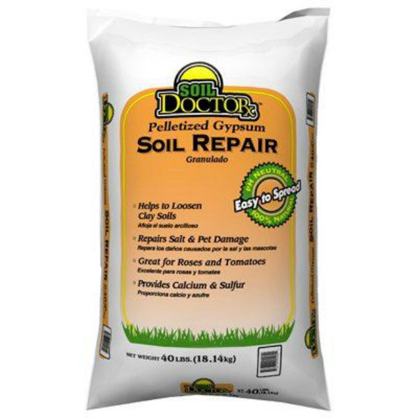 Soil Doctor 54055006 Pelletized Gypsum Soil Repair Granules, 40 Lbs
