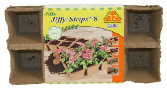"Jiffy® JS32 Square Peat Strip, 2-1/2"", 4-Pack"