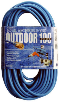 Coleman Cable® 02569-06 High-Visibility/Low Temp Outdoor Extension Cord, 100'