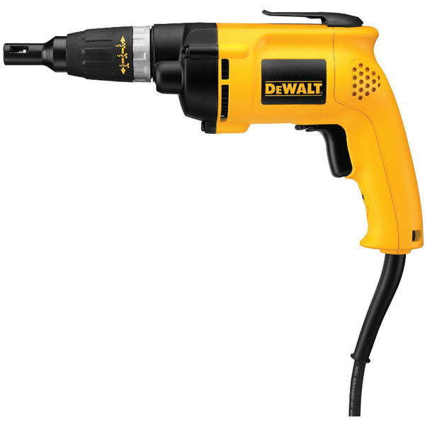DeWalt® DW257 All-Purpose Deck/Drywall Screwdriver, 2500 RPM, 6.2 Amp