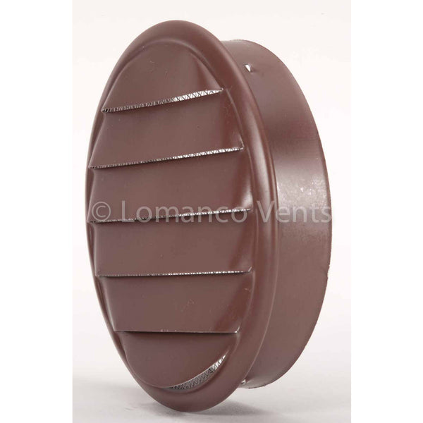 Lomanco® CV4BR CV-Series Aluminum Undereave Circle Vent, Brown, 4""