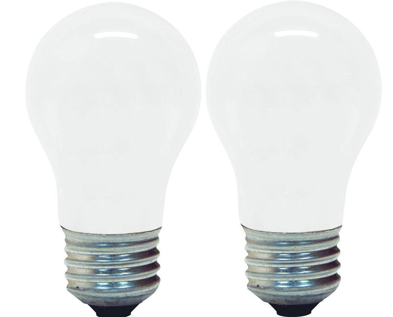 GE Lighting 14029 Incandescent A15 Ceiling Fan Bulb, 60W, Soft White, 2-Pack