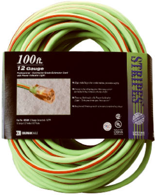 Coleman Cable® 02549-88-54 Stripes™ and Cool Colors™ Outdoor Extension Cord