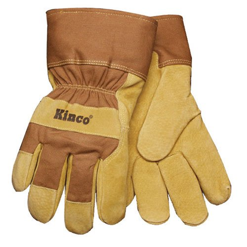 Kinco 1958-L Men's Suede Pigskin Leather Palm Glove, Large