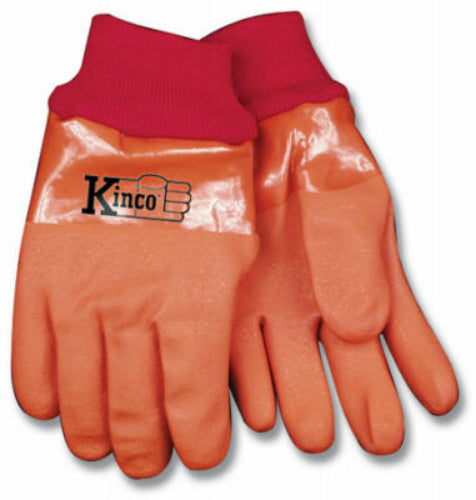 Kinco 8170-L Men's Winter Lined Full PVC Glove, Large, Amber Color