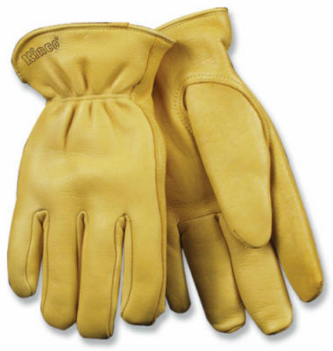 Kinco 90HK-L Men's Full Grain Deerskin Leather Glove, Large, Golden