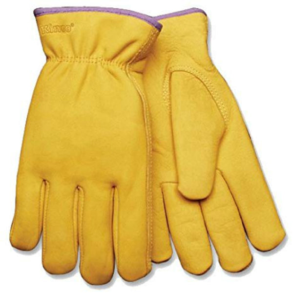 Kinco 98RLW-M Women's Lined Full Grain Cowhide Leather Glove, Medium, Golden