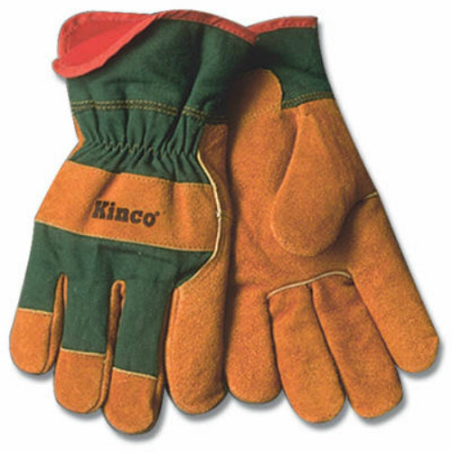 Kinco 1721GR-M Men's Suede Cowhide Leather Palm Glove, Medium