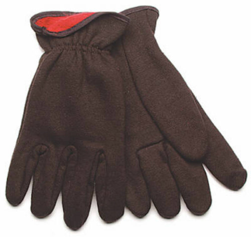 Kinco 820RL-S Men's Lined Poly/Cotton Jersey Glove, Small, Brown