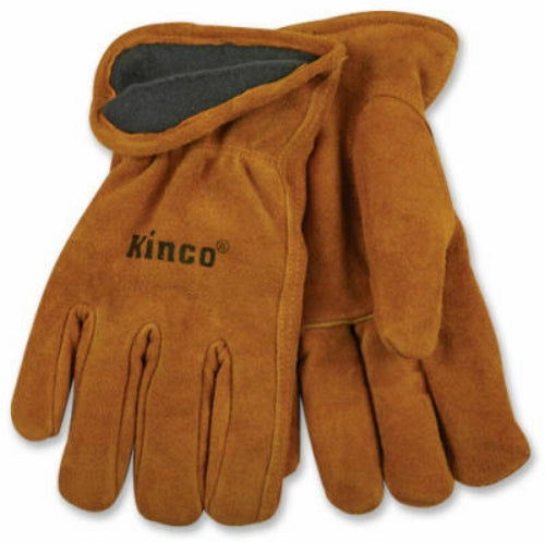 Kinco 50RL-XL Men's Lined Full Suede Cowhide Leather Glove, Extra Large