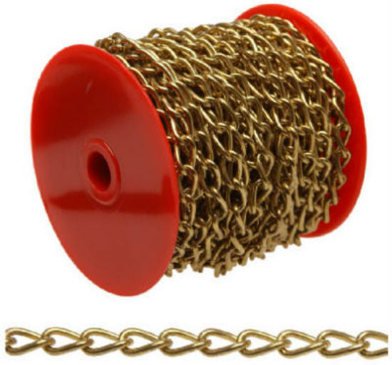 Campbell® 0717017 Hobby/Craft Twist Chain, 82', Brass Plated