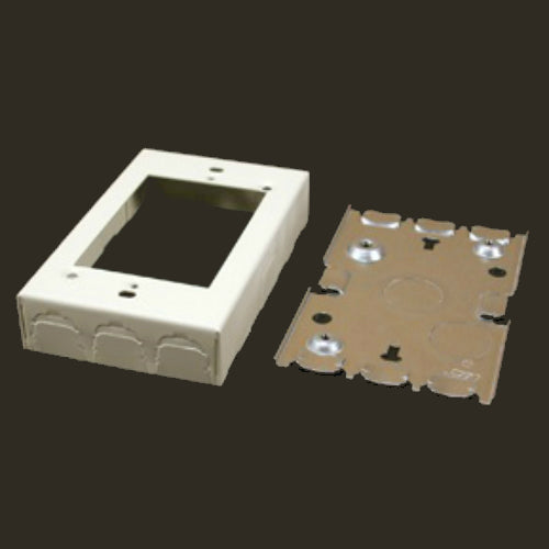 Wiremold® B-2 Metal Raceway Shallow Switch/Receptacle Box, Ivory