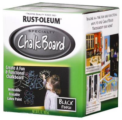 Rust-Oleum® 206540 Specialty Chalkboard Brush-On Latex Paint, 1 Qt, Black