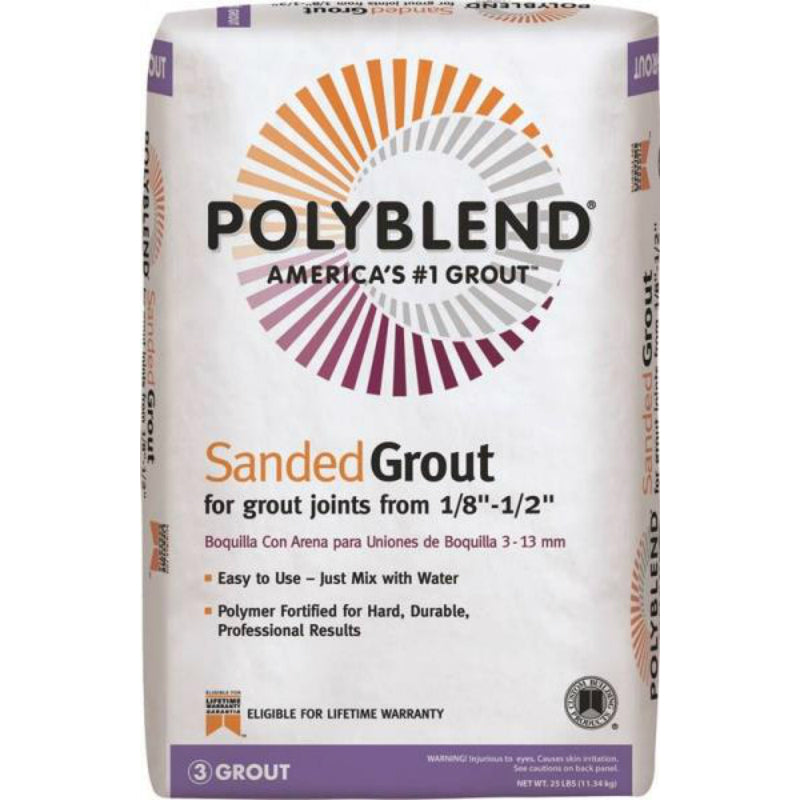 Polyblend® PBG1025 Sanded Tile Grout, #10 Antique White, 25 Lbs