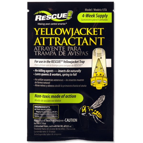 Rescue!® YJTA-DB36 Non-Toxic Yellowjacket Attractant, 4 Week Supply, 2 Vials