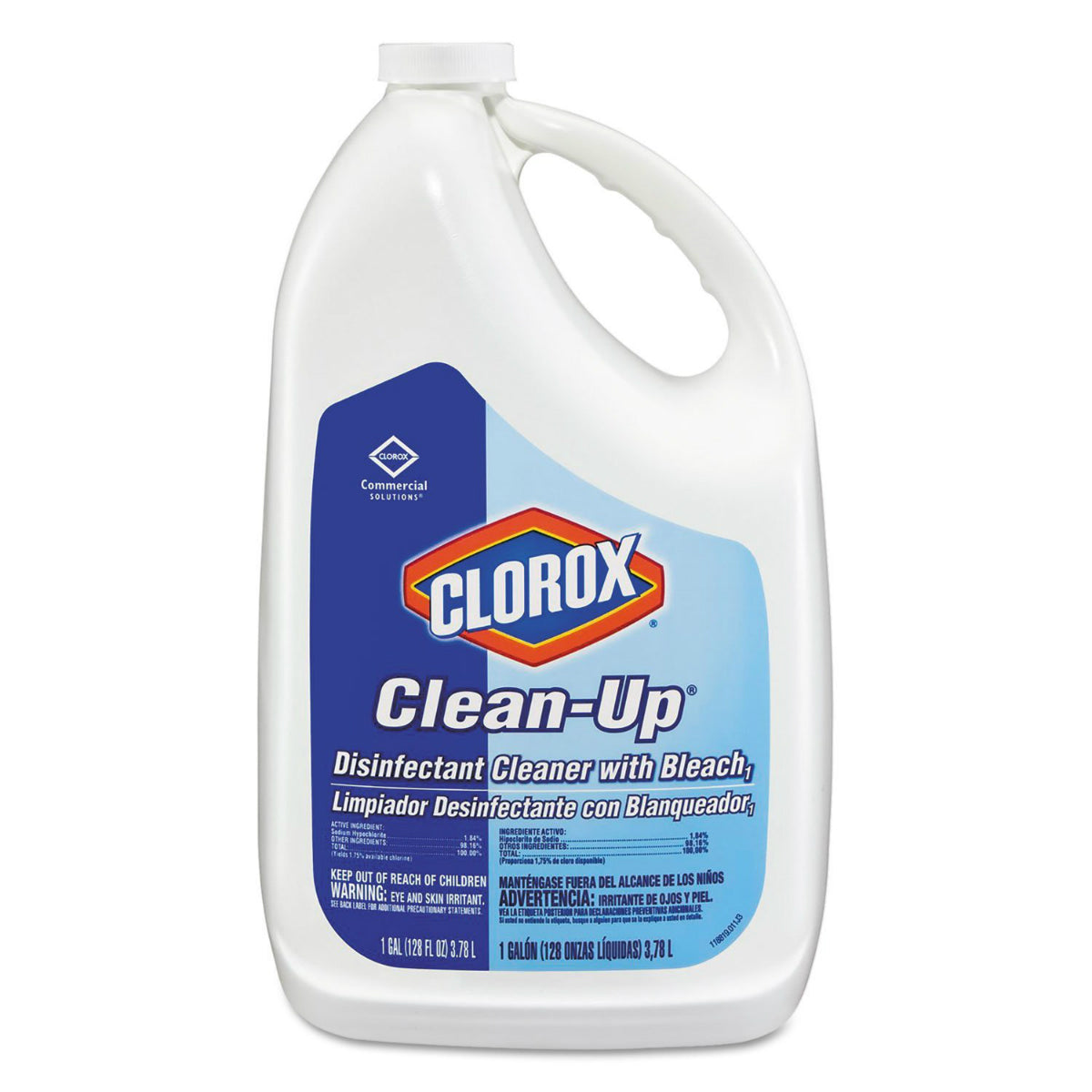 Clorox 35420 Commercial Solutions Clean-Up Disinfectant Cleaner w/Bleach,128 Oz