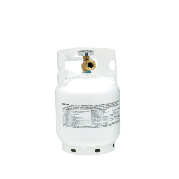 Manchester Tank 10054-3 Vertical ACME/OPD Propane Gas Cylinder, White, 5 Lb