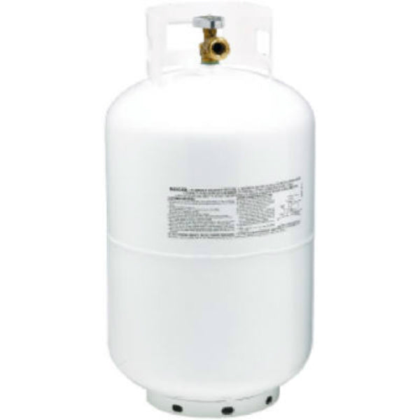 Manchester Tank 1160TC-5 Vertical ACME/OPD Propane Gas Cylinder, White, 30 Lb