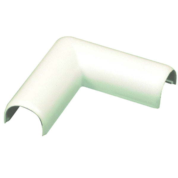 Wiremold® C6 CordMate® Flat Elbow Cord Cover, Plastic, Ivory