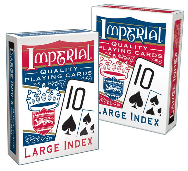 Imperial® Products 1451 Large Index Poker Playing Cards, Assorted Deck Color