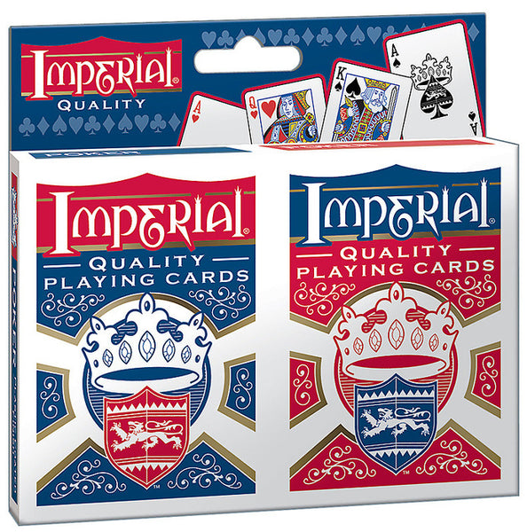 Imperial® Products 1452 Twin Pack Poker Playing Cards