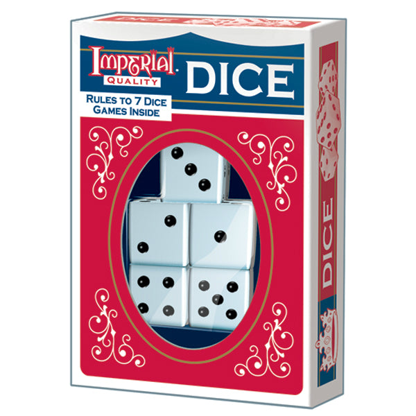 Imperial® Products 1454 Dice, White, 5-Pack