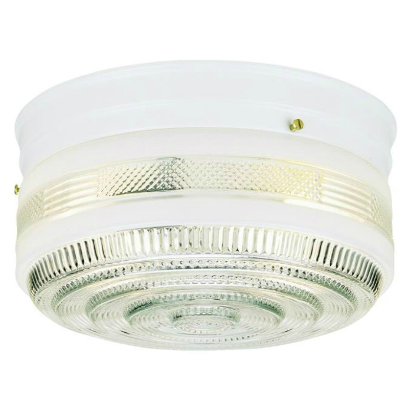 Westinghouse 66238 Two-Light Indoor Flush-Mount Ceiling Fixture, White