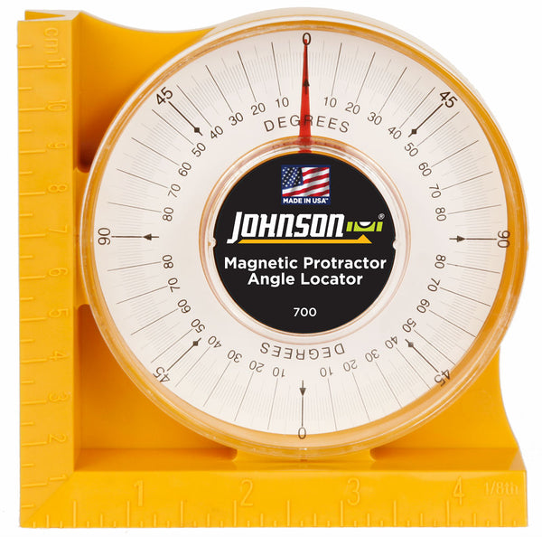 Johnson Level 700 Professional Magnetic Protractor Angle Locator