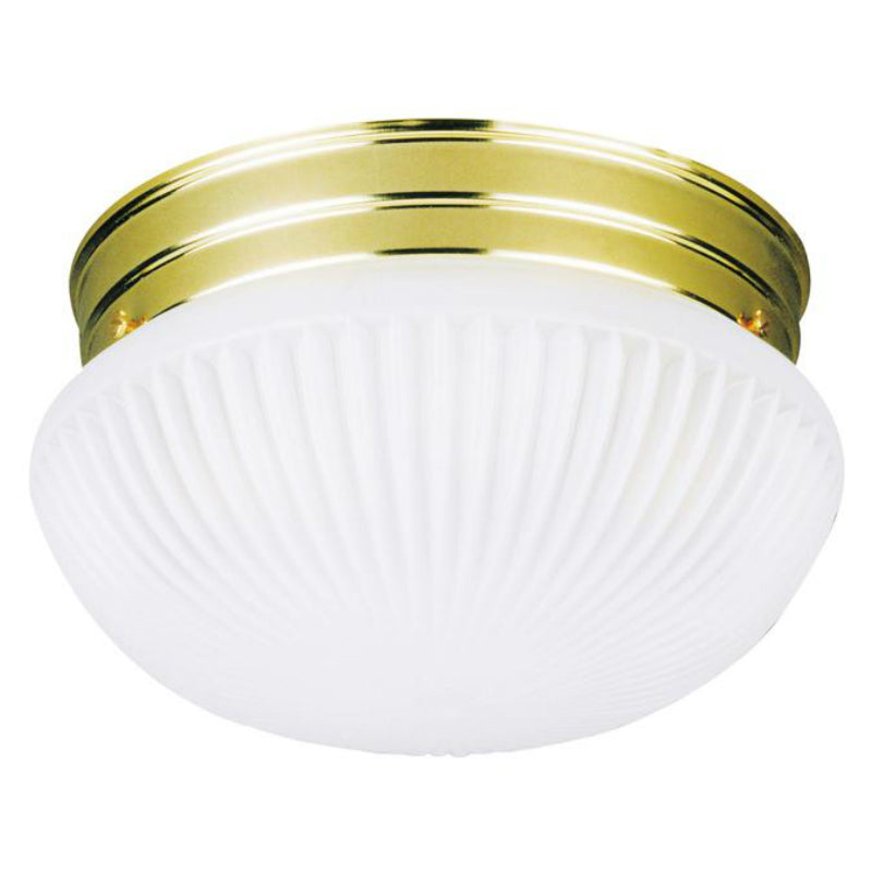 Westinghouse 66329 1-Light Flush-Mount Interior Ceiling Fixture, Polished Brass