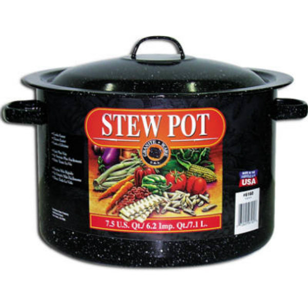 Granite-Ware® 6160-1 Porcelain-On-Steel Covered Stew Pot, 7.5 Qt